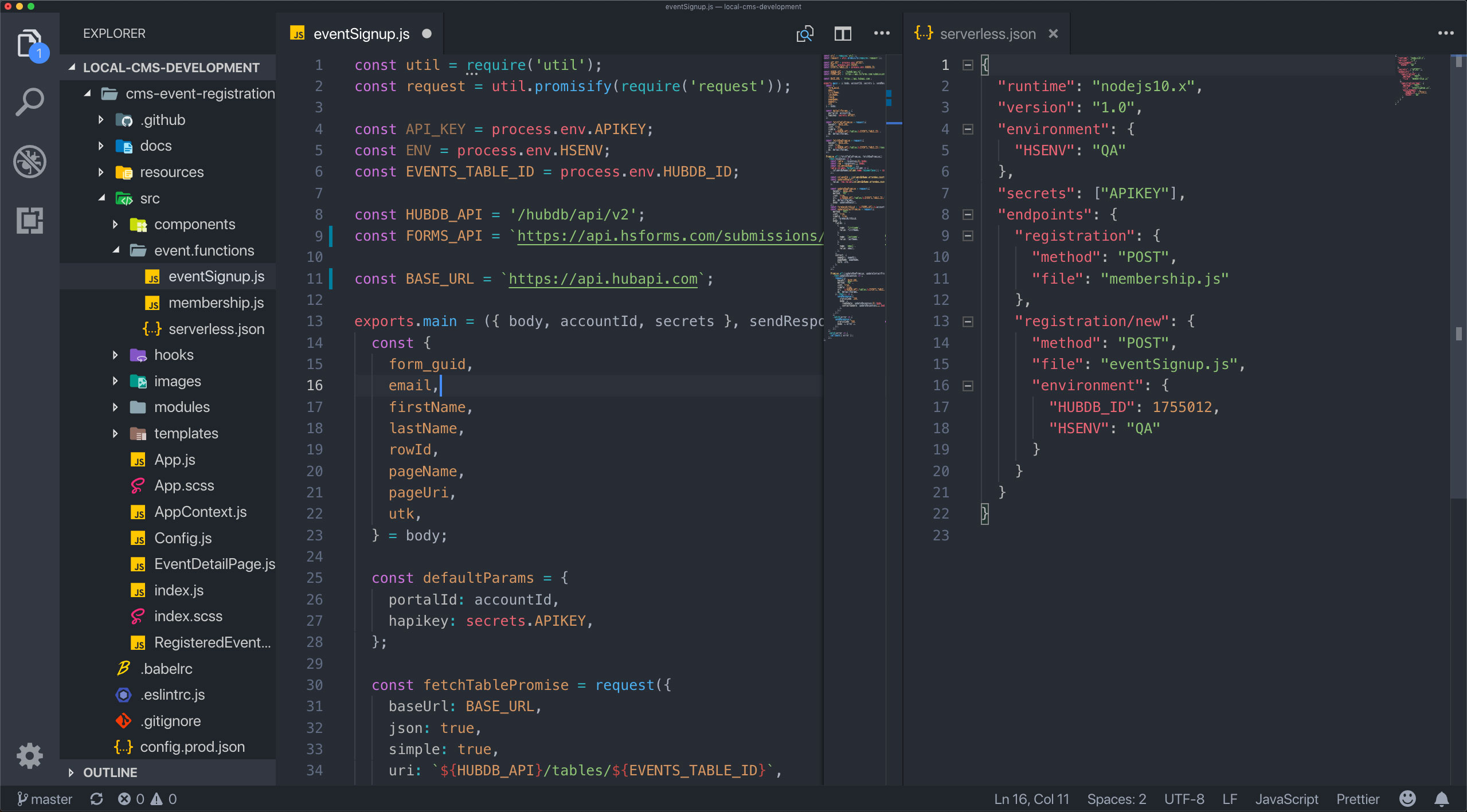 serverless-functions-code-vs-code